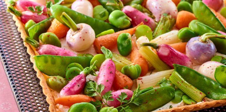 Tarte printanière aux légumes