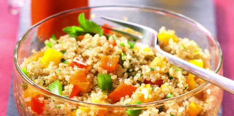 Taboulé arlequin de quinoa et son moro rojo