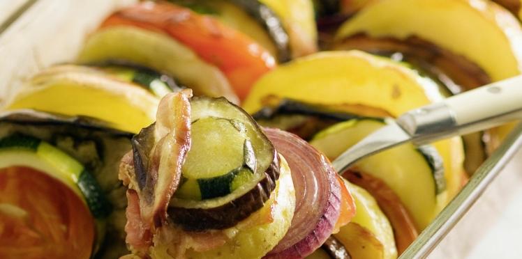 Tian de courgette, tomate et pomme de terre