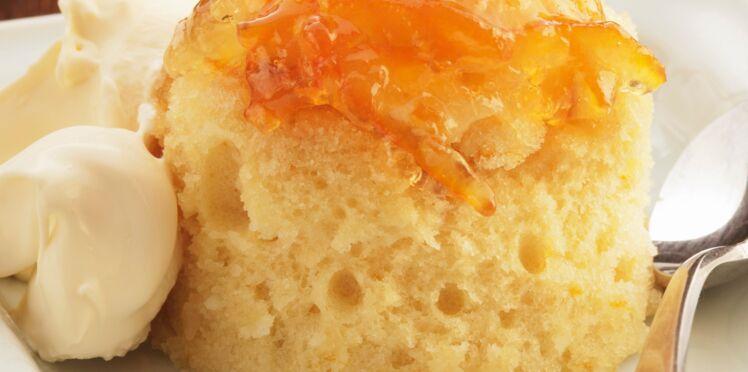 Pudding vapeur à la marmelade d'orange amère