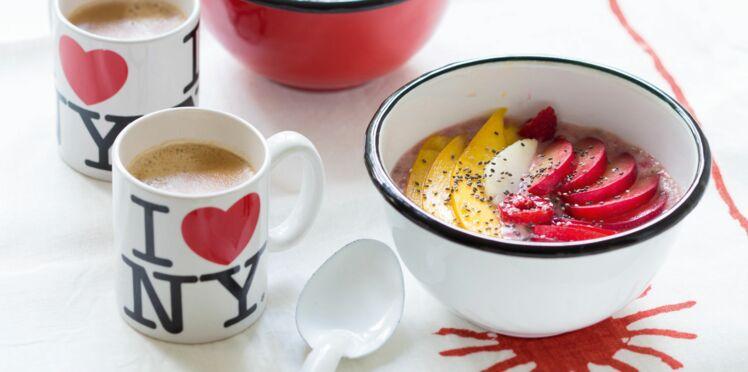 Açai bowl banane - framboises de Catherine Kluger