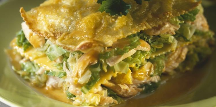 Lasagne saumon et poireaux