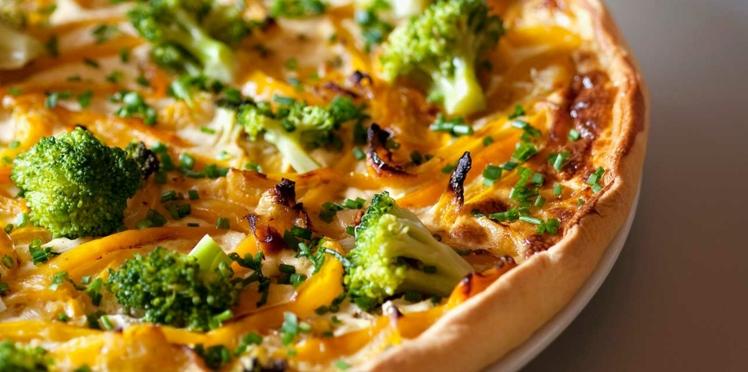 Tarte aux brocolis et poivron jaune