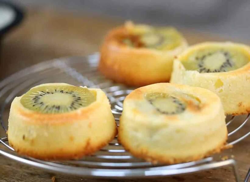 Moelleux aux kiwis et zeste de citron