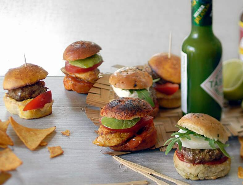Mini-burgers mexicains