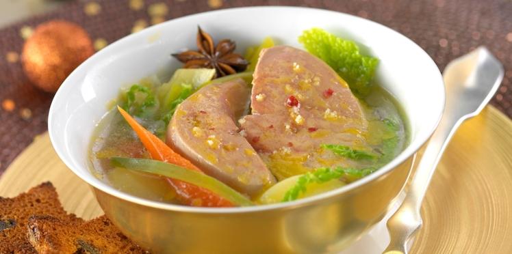 Pot-au-feu de foie gras à l'anis étoilé