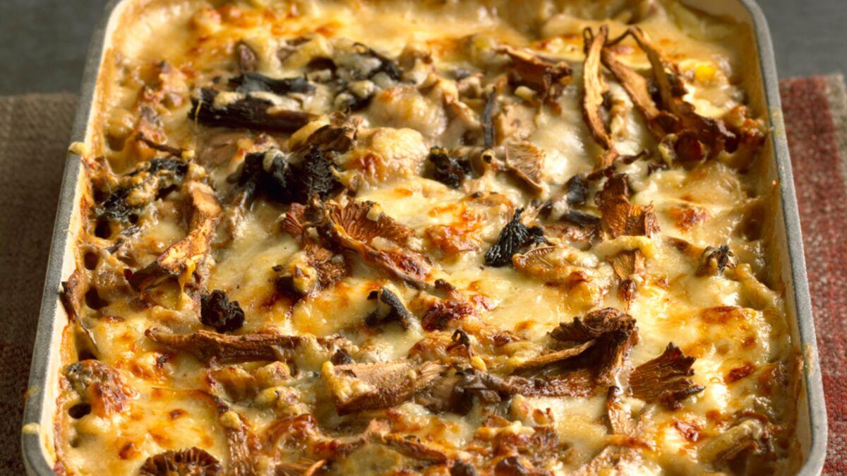 Gratin de polenta aux cèpes