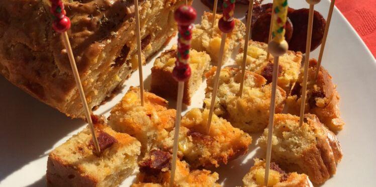 Cake salé au chorizo et au maïs doux