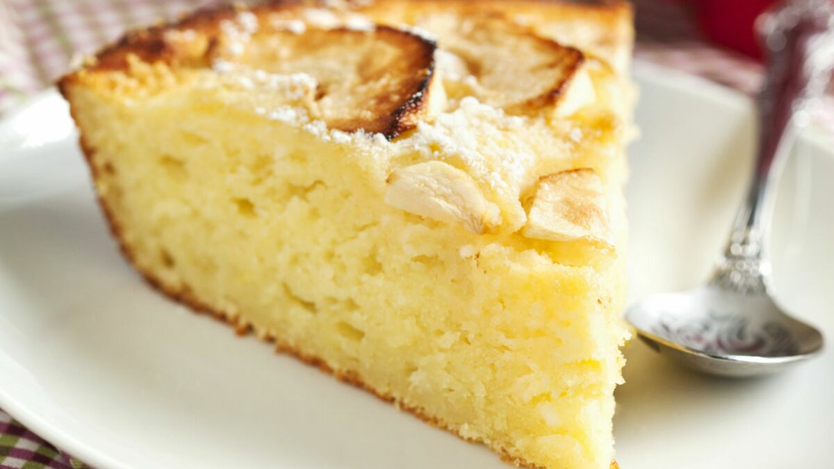 Gâteau moelleux aux pommes et canelle