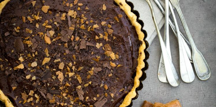 Tarte au chocolat et Gavottes