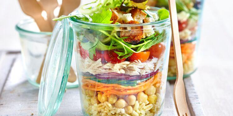 Salade shaker poulet-céréales