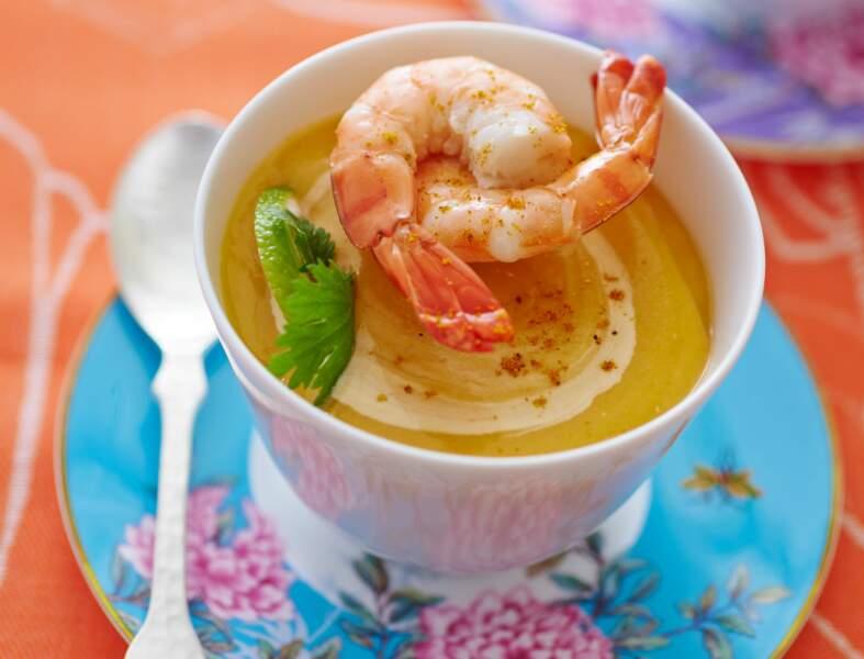 Soupe de lentilles corail au lait de coco