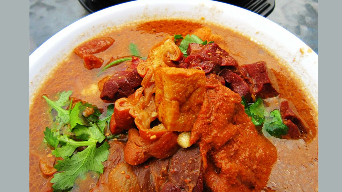 Curry de porc au concombre