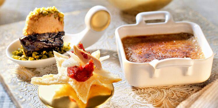 Trio gourmand au foie gras