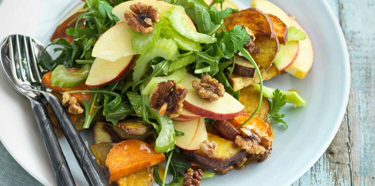 Salade aux patates douces