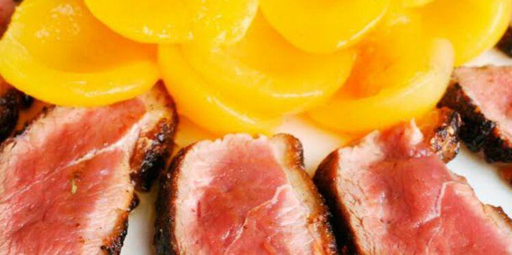 Aiguillettes de canard aux abricots secs et au thym