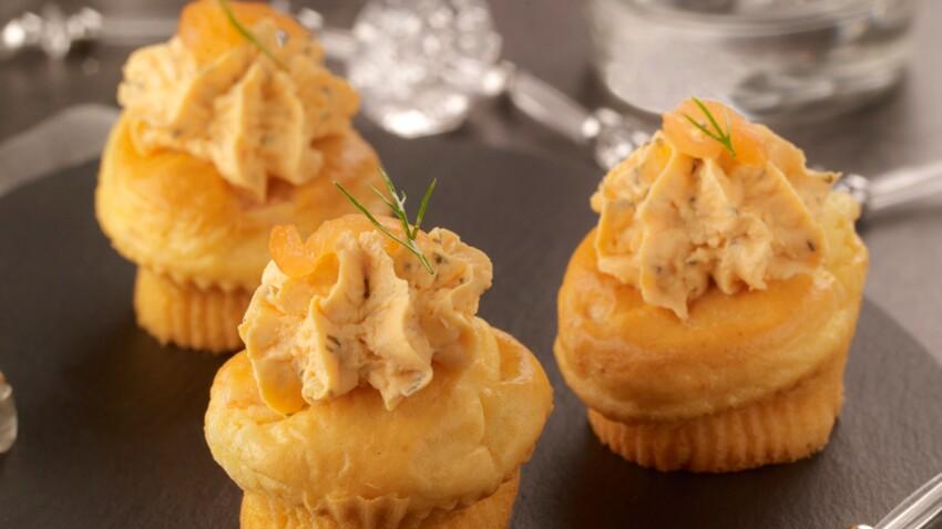 Cupcakes au saumon fumé
