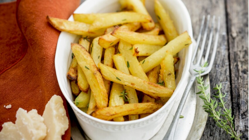 Frites au thym et parmesan