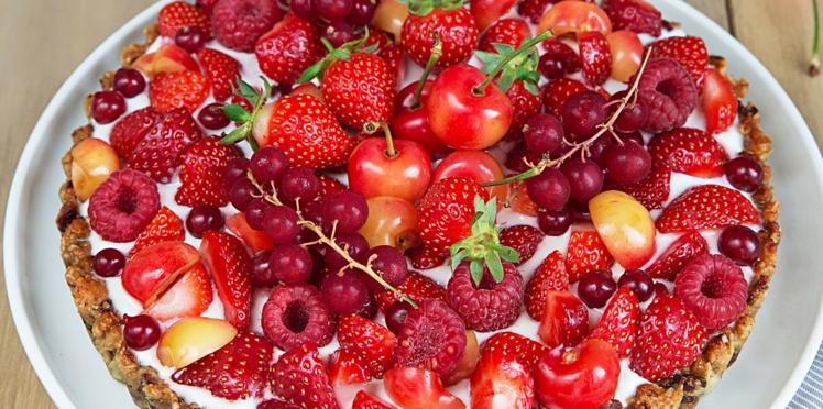Tarte au muesli et aux fruits rouges