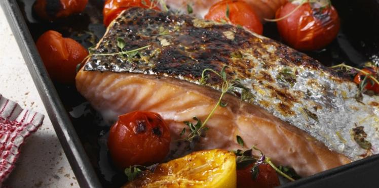 Saumon au four à la méditerranéenne