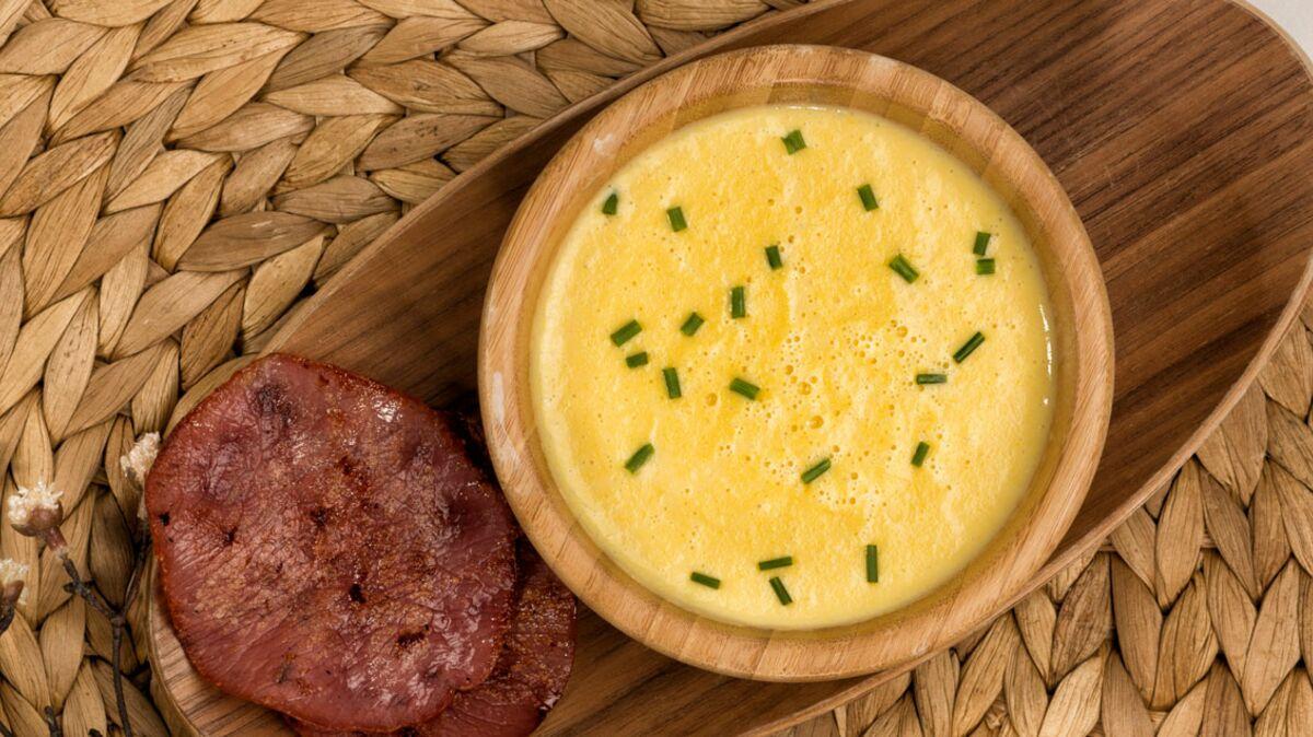 Soupe de maïs doux au bacon