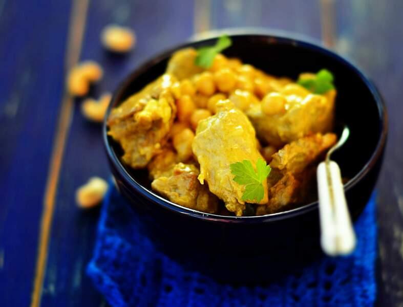 Curry de veau au lait de coco