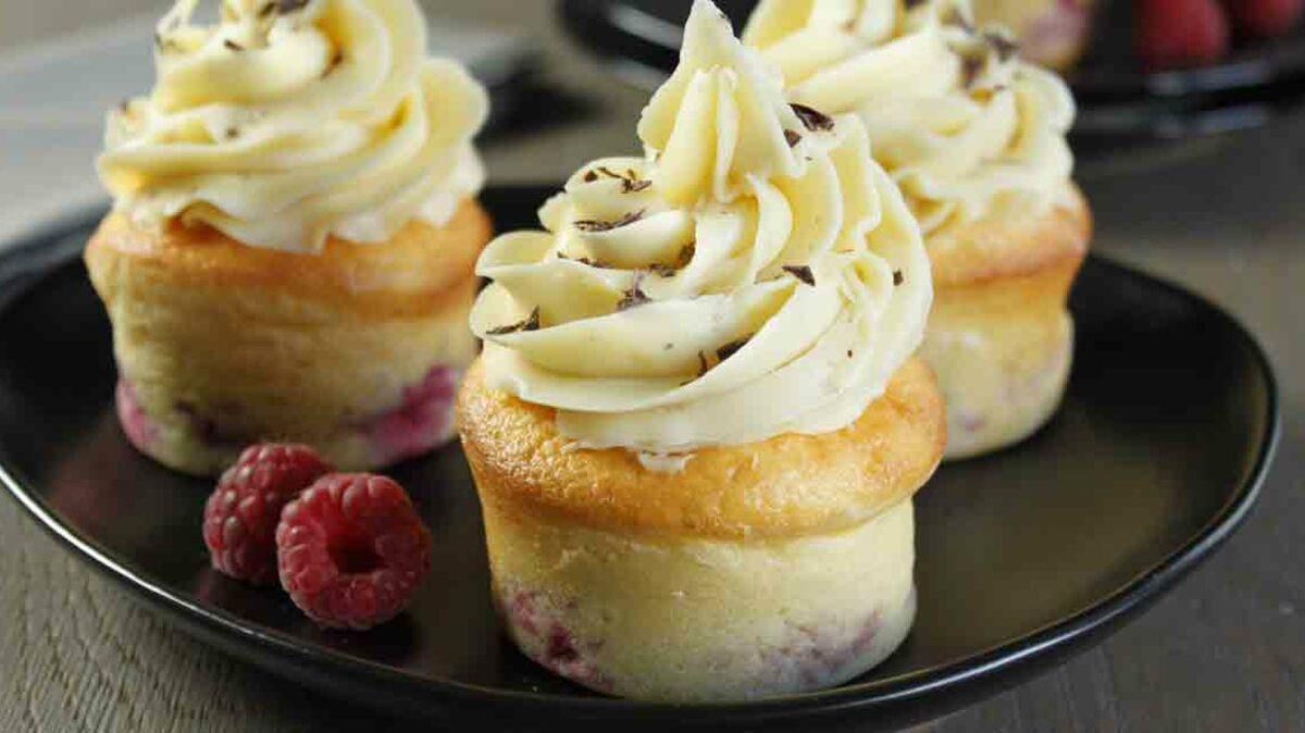 Cupcake chocolat amande framboise