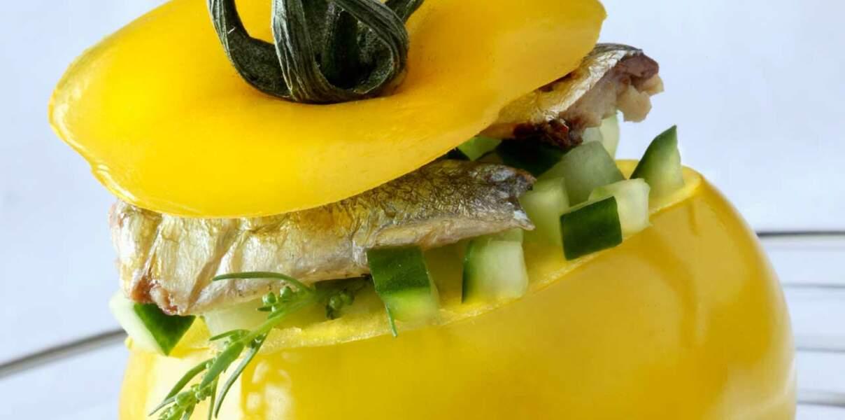 Tomates farcies à la sardine