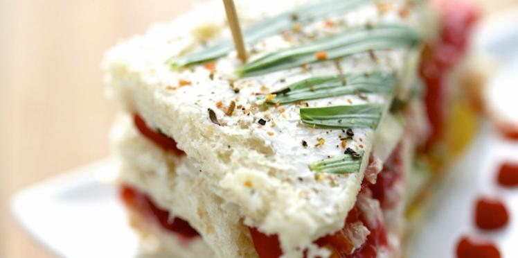 Club sandwich fraise, poivron