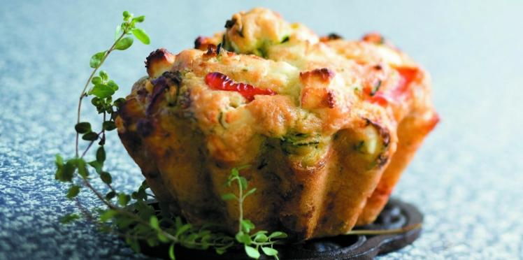 Cake aux légumes, au thym et à la feta