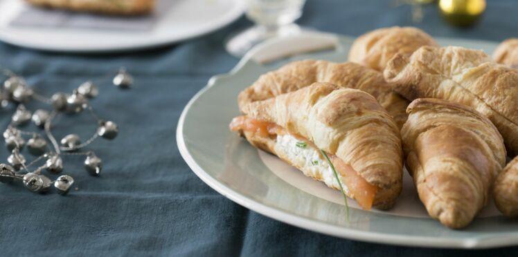 Mini croissants au saumon fumé