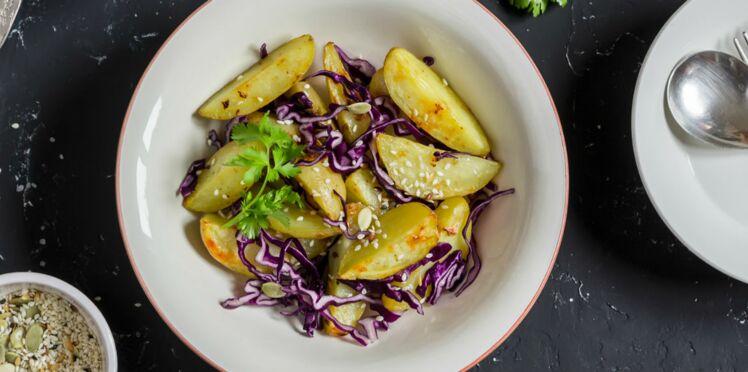 Étouffée de chou rouge et pommes de terre