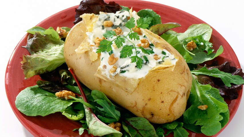 Pommes de terre farcies au roquefort