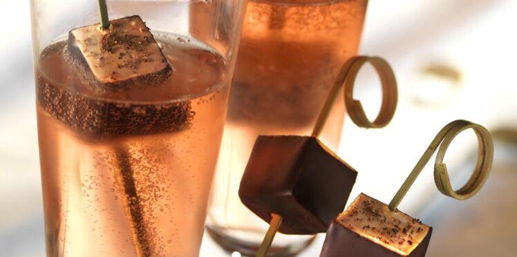 Bouchée de Foie Gras Delpeyrat aux 4 baies par Guy Martin au Chocolat