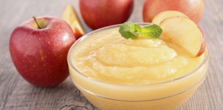 Compote de pommes au miel