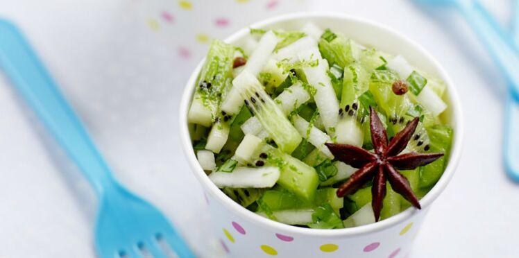 Tartare de kiwis et poires à la menthe
