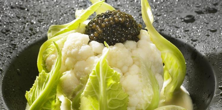 Baby chou-fleur au caviar
