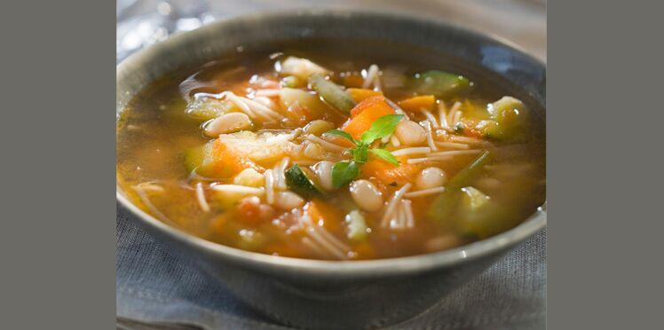 Soupe aux haricots frais