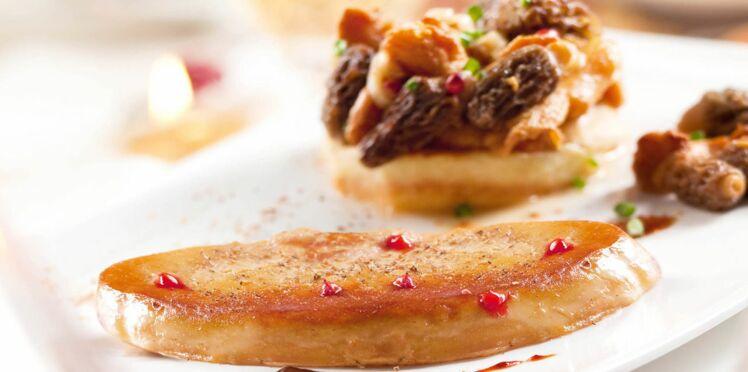 Foie gras poêlé et son tatin de champignons