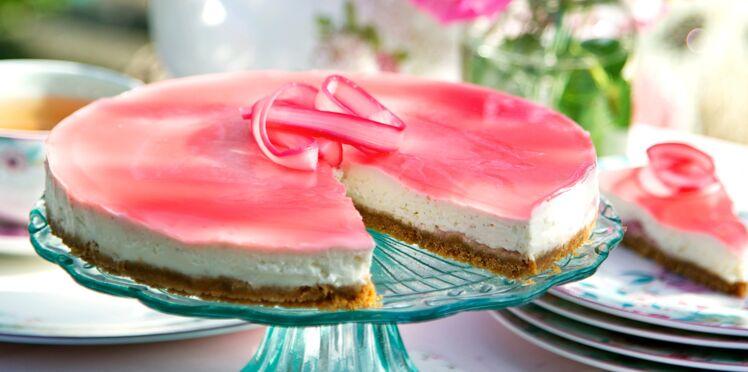 Cheesecake fraîcheur à la rhubarbe