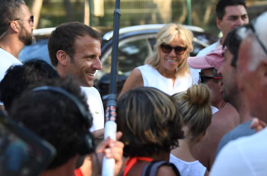 Emmanuel Macron and Brigitte Macron - Bregancon