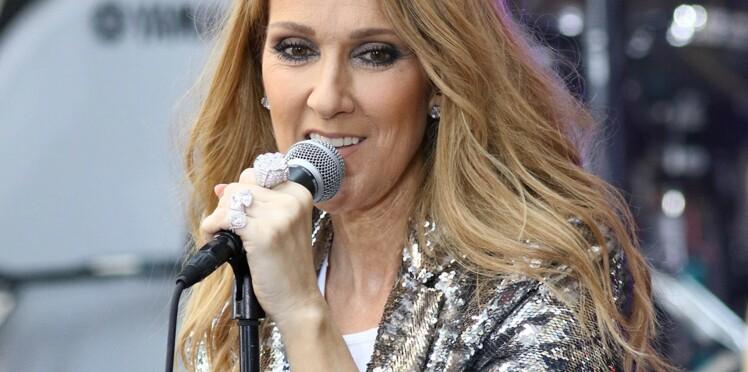 Céline Dion ose la chemise en dentelle blanche sans aucun soutien-gorge !