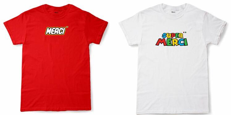 De Super Mario à Kinder en passant par IBM : découvrez les tee-shirts à logo de Merci