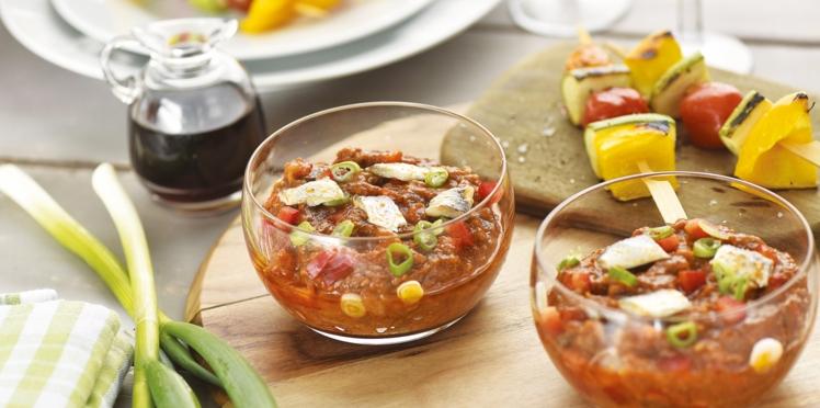 Salade de Riste glacée aux poivrons et anchois