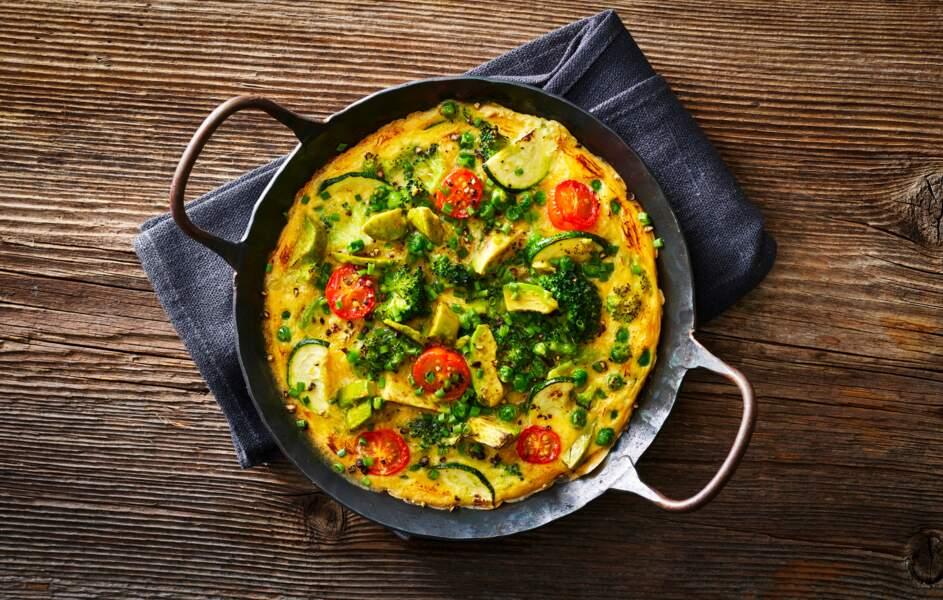 Omelette au son d'avoine hyperprotéinée