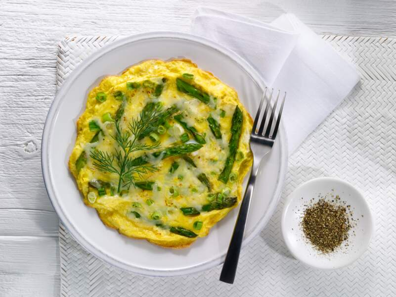 Omelette verte au son d'avoine