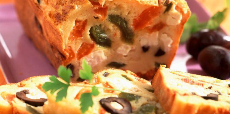 Cake aux olives light au son d'avoine