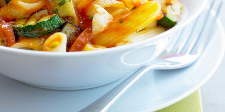 Penne aux légumes grillés
