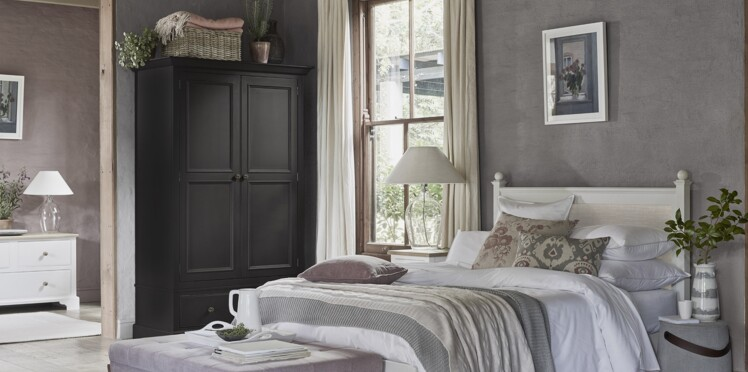 tendance campagne chic pour ma d co de chambre femme actuelle le mag. Black Bedroom Furniture Sets. Home Design Ideas