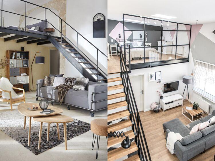 mezzanines 5 am nagements pour gagner de la place dans. Black Bedroom Furniture Sets. Home Design Ideas